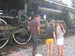My cousins inspect the valve gear at West Lib.