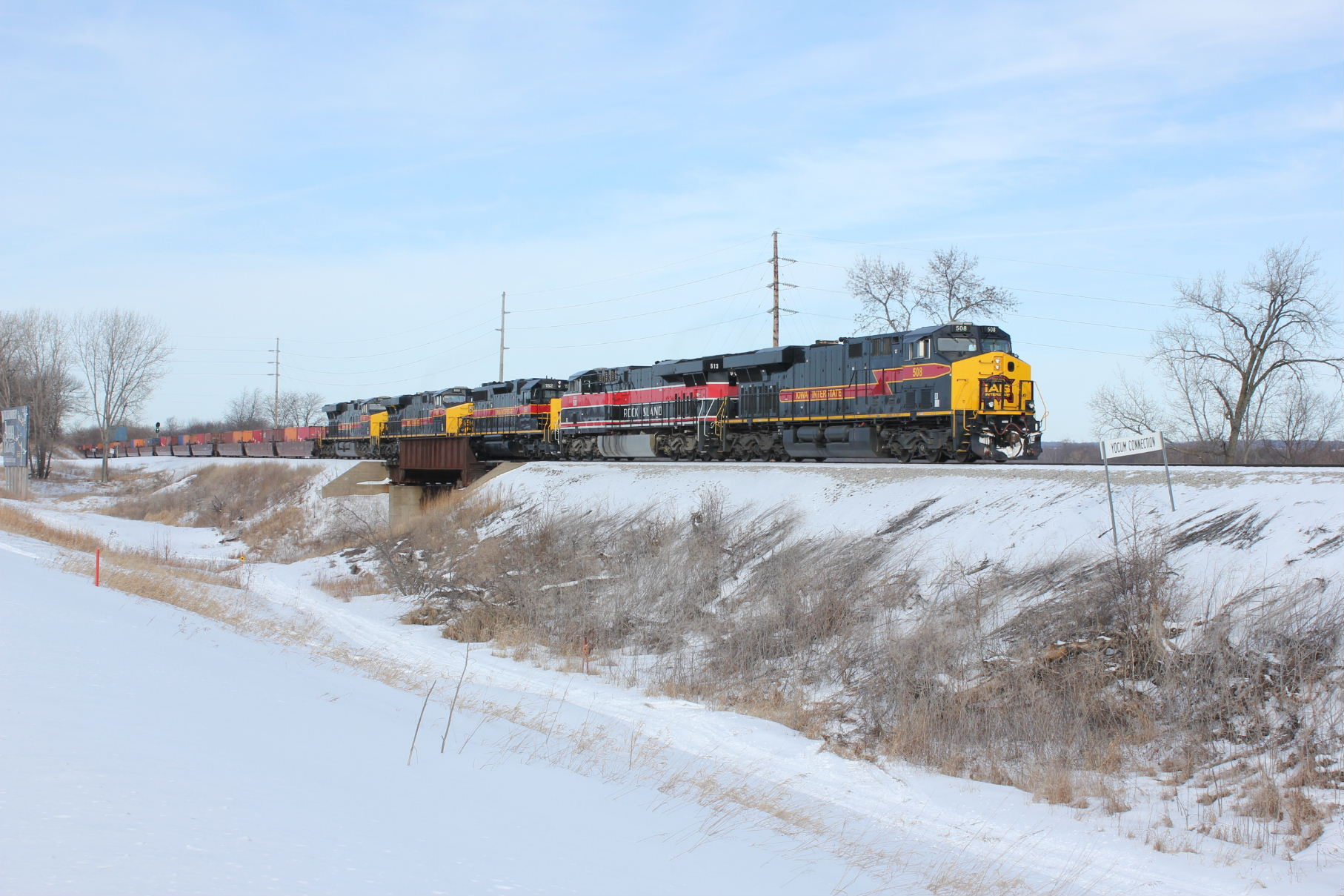 EB is just leaving South Amana, Feb. 19, 2014.
