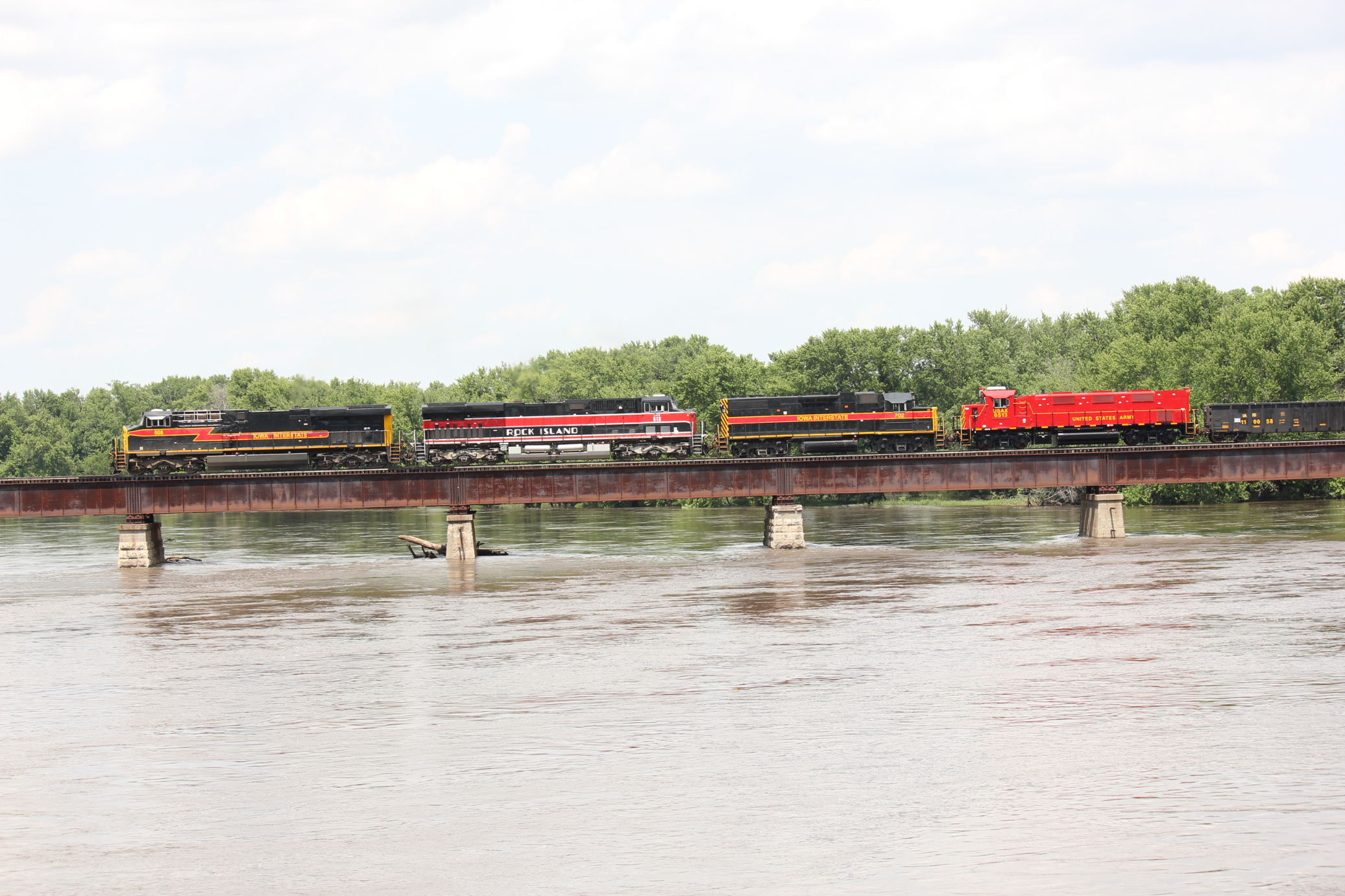 Crossing the Cedar River at Moscow.