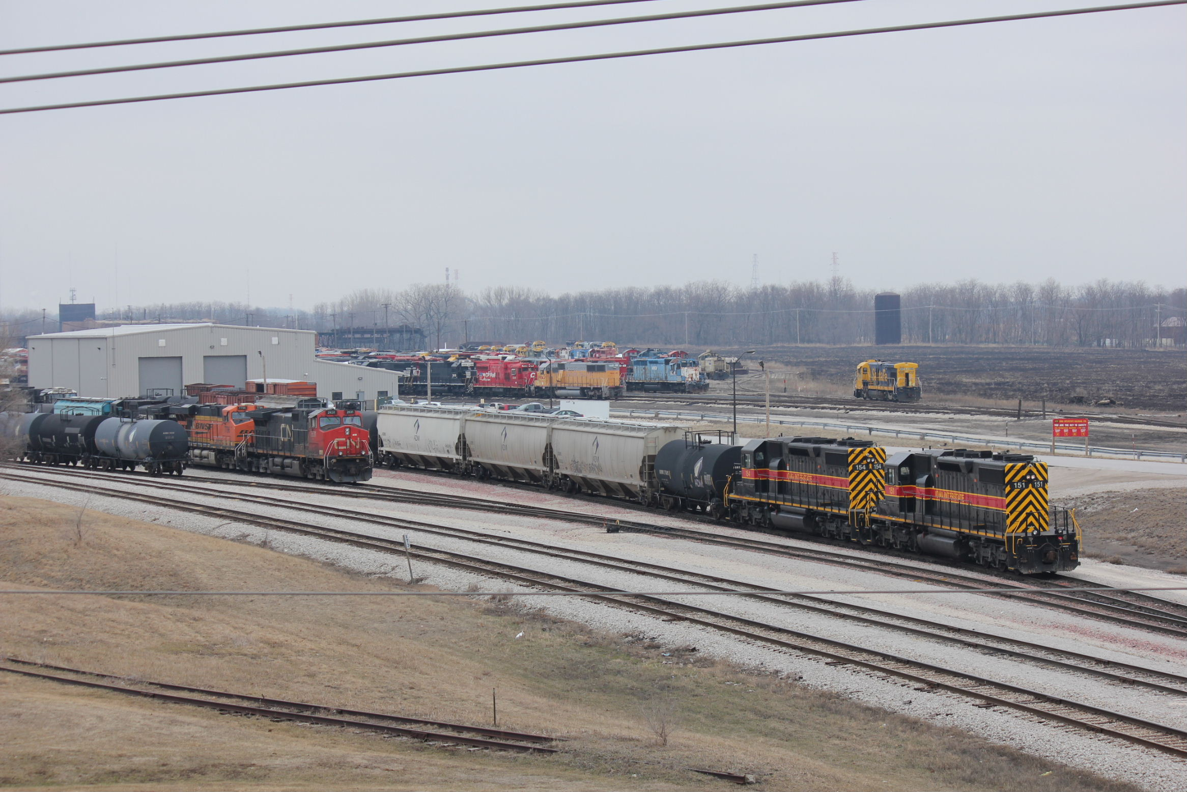 Silvis switch crew is making some moves with a pair of SD38s.