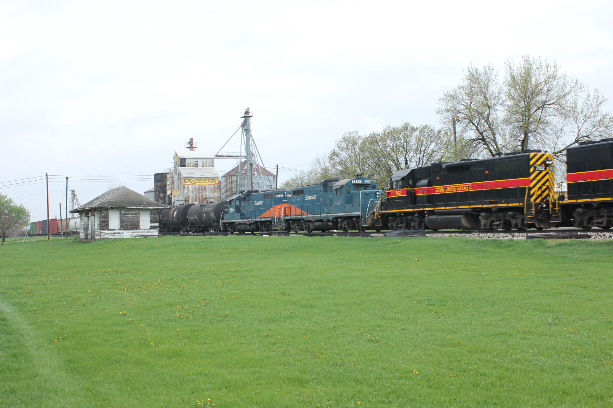 A pair of Savage geeps trailed the regular power on today's EB, May 4, 2013.