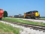 "An interesting ""extra local"" pulls past Twin States with steel loads for Norfolk Iron and Metal, July 8, 2011."