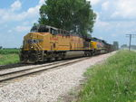 Coal train heads in at the east end of N. Star to meet the EB, July 8, 2011