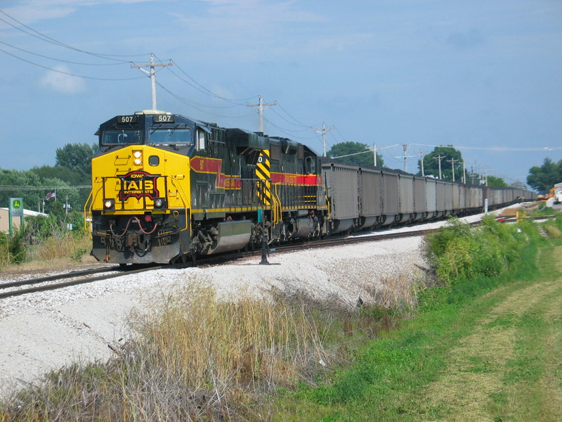We got a rare daylight move of the coal train, shown here leaving Durant.