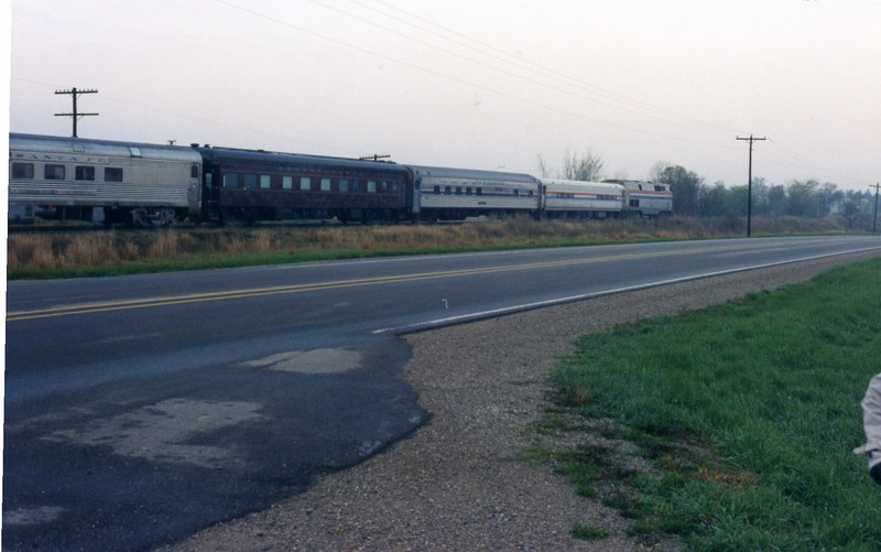 Amtrak inspection train, May 1998, mp 205.5