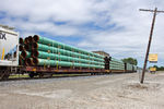 Pipe loads on BICB-31 at 44th St; Rock Island, IL.  June 1, 2015