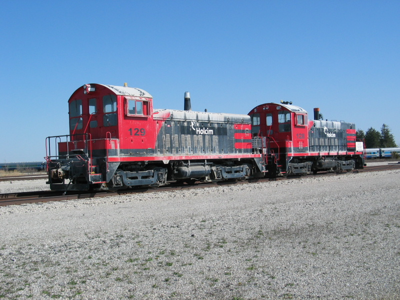 Switchers still parked at Newton, April 9, 2010.