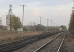 Looking east near the old signal bridge in Atkinson, IL on 4-Nov-2005.