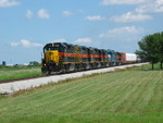 Westbound arrives at Twin States to meet the eastbound, Aug. 7, 2007.