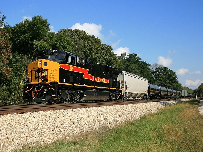 IAIS 507 shoving the eastbound ethanol train