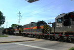PWSX 431 and 3 others trail two IC SD70's, Berwyn, IL