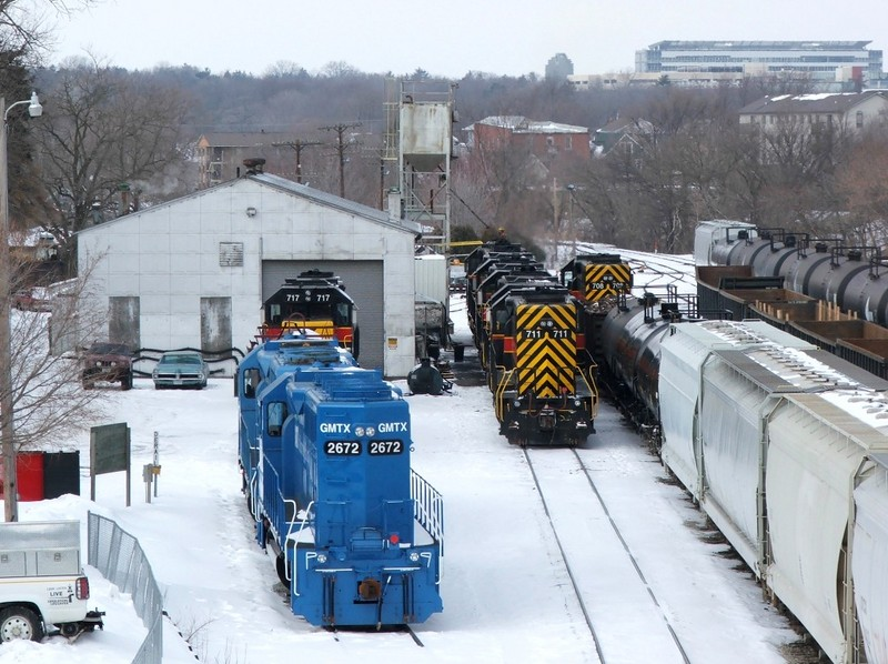 Iowa City yard, a fairly full house even before any of the trains arrive.