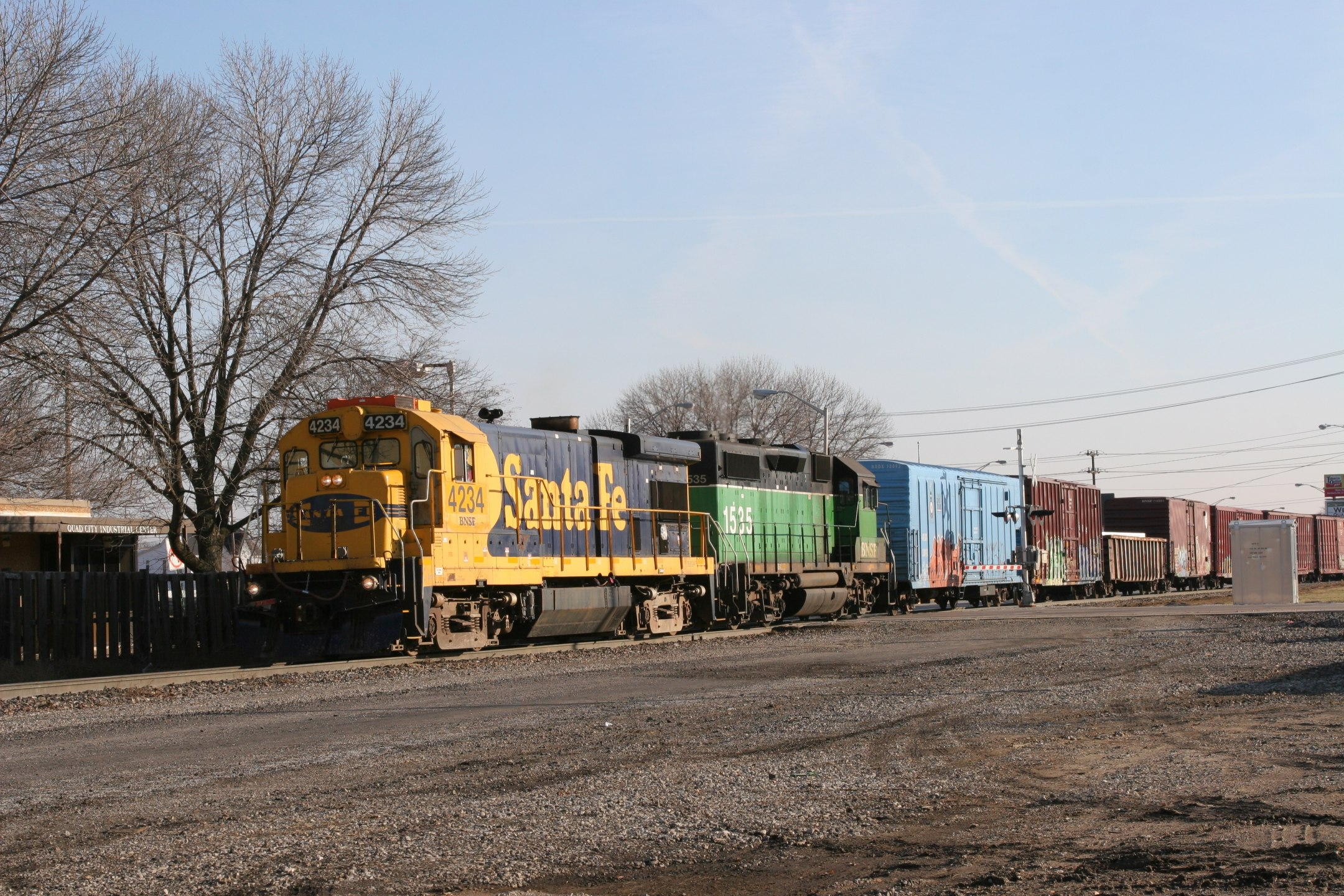 Oh, that's what we're waiting on...  It's the BNSF local job, lead by ex-ATSF B23-7 4234