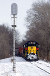 BICB waits for the main to be reopened @ Colona, IL.  January 4, 2008.