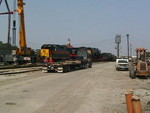 Starting to move the tender of 7081