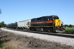Atlantic Rover at Menlo, IA about to enter the Ethanol Plant on 7-15-10