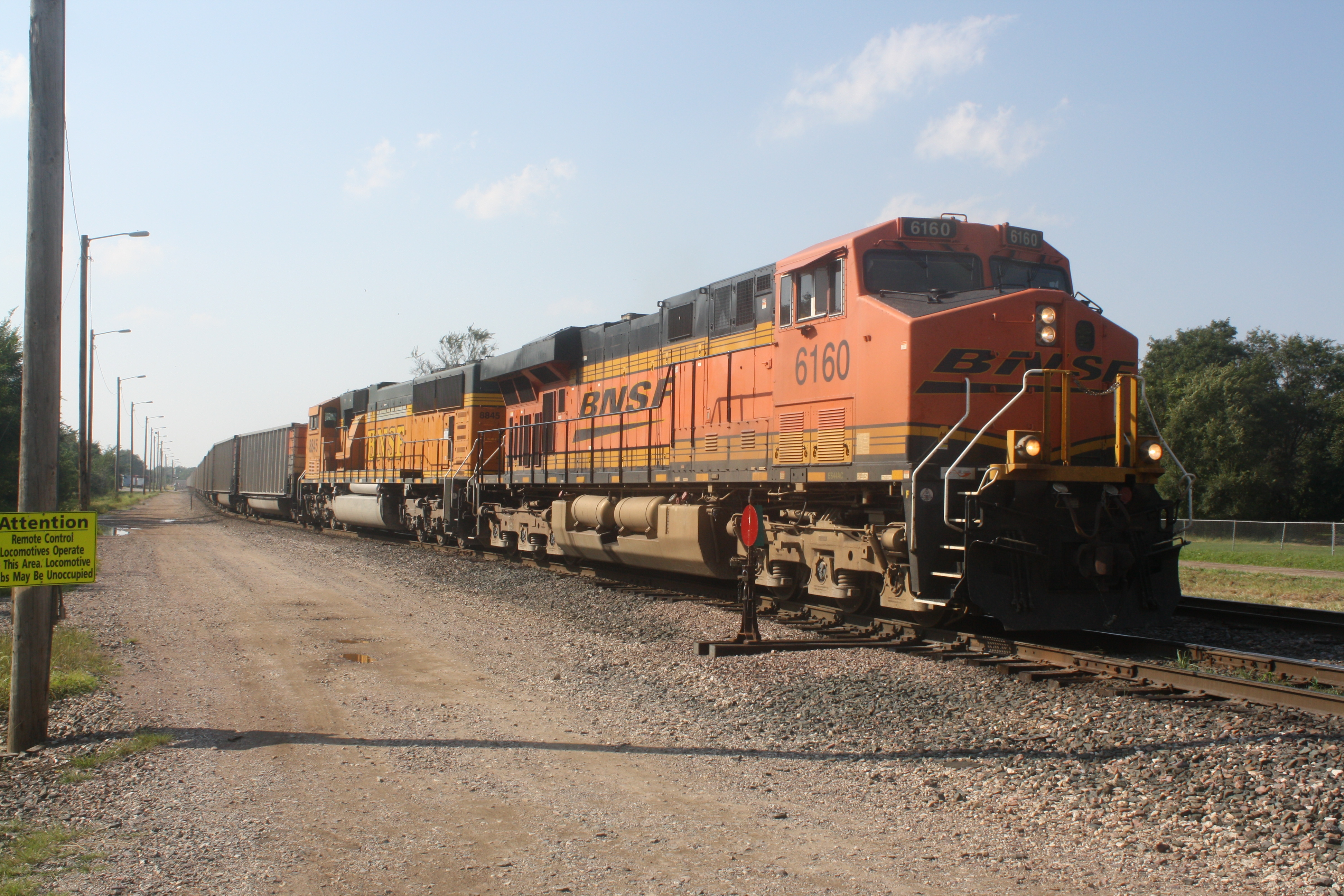 Right behind the Tramp was an EB BNSF Coal Load, the only one I've managed to capture. Short Line Yard 9-21-10