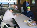 Dick Steele and Dennis Holmes at Atlantic. Dick Was the last CGW Clerk on the UP to retire in 2007 after 39 years.
