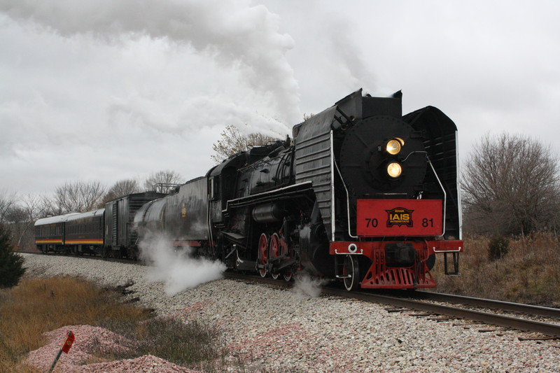 EB Steam Special at Clucas, MP 383, between Earlham and DeSoto.