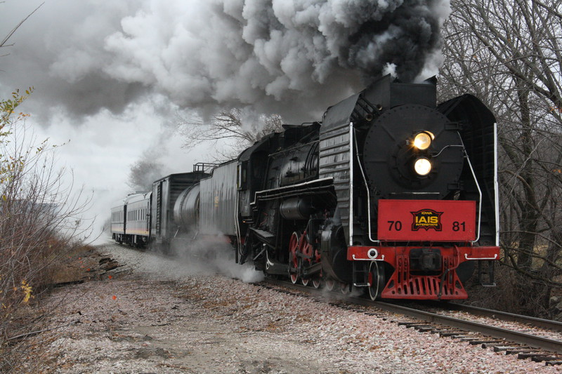 Coming into Boonville, IA is the Steam Special on 11-13-10