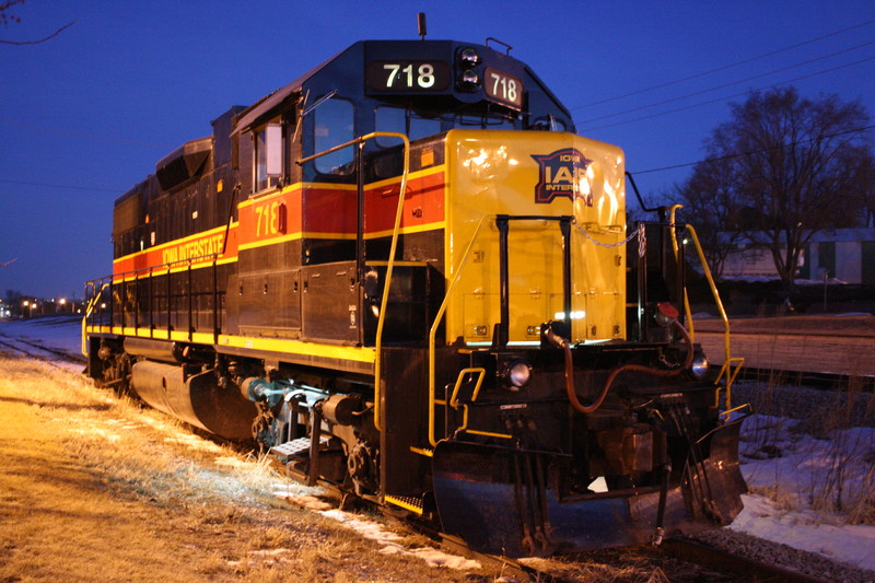 IAIS Grimes Job lays overnight in Clive in the Winter of 2011