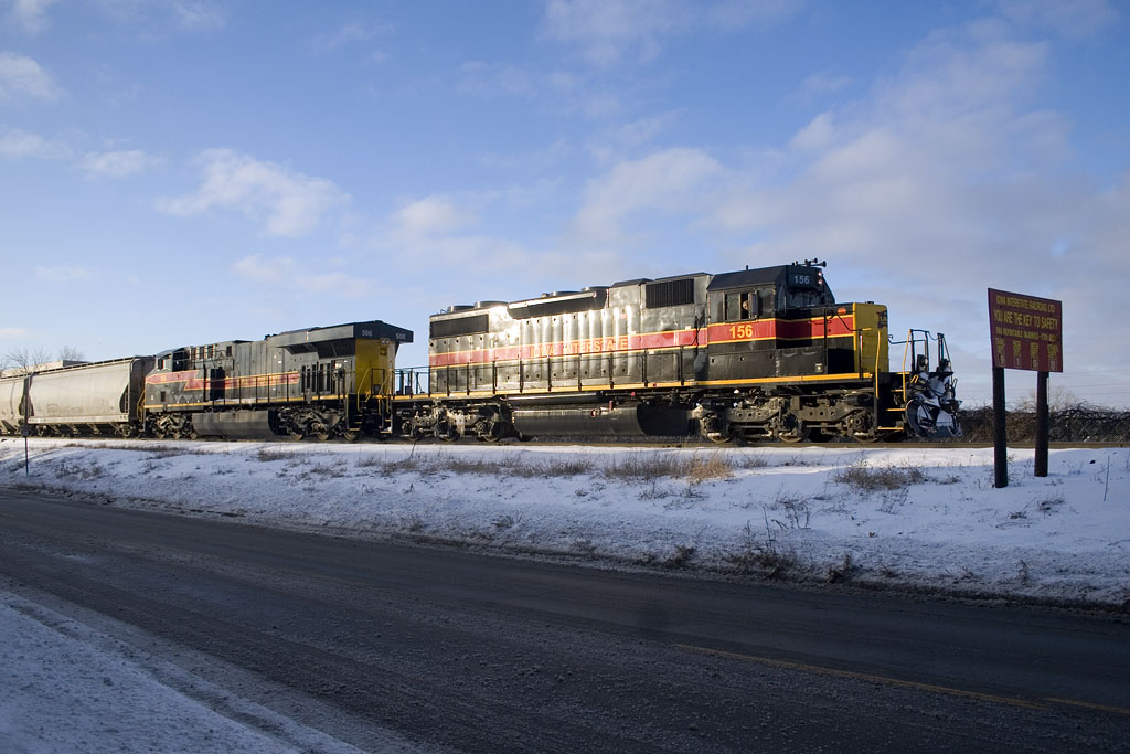 IAIS 156 with CBBI-08 @ Rock Island, IL.  January 9, 2009.