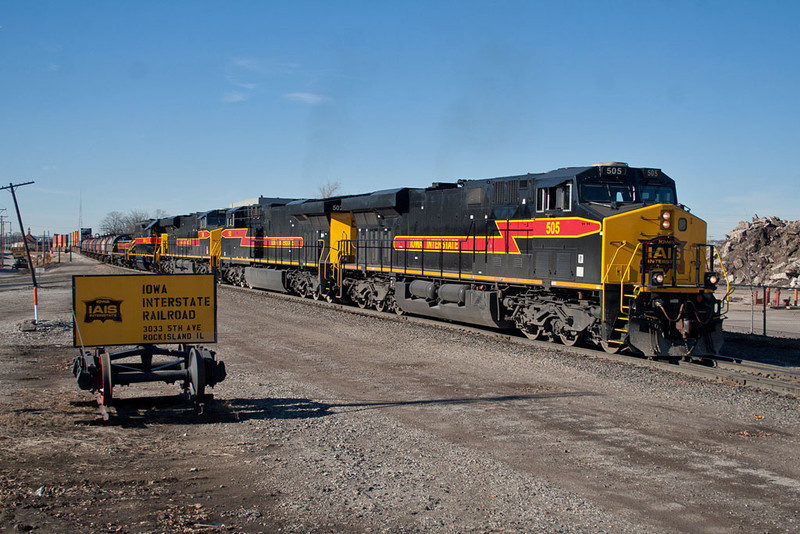 CBBI-04 departs Rock Island, IL.  January 5, 2012.