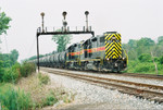 717 east at the old RI signal bridge, Houbolt Rd. Rockdale, June 28, 2005.
