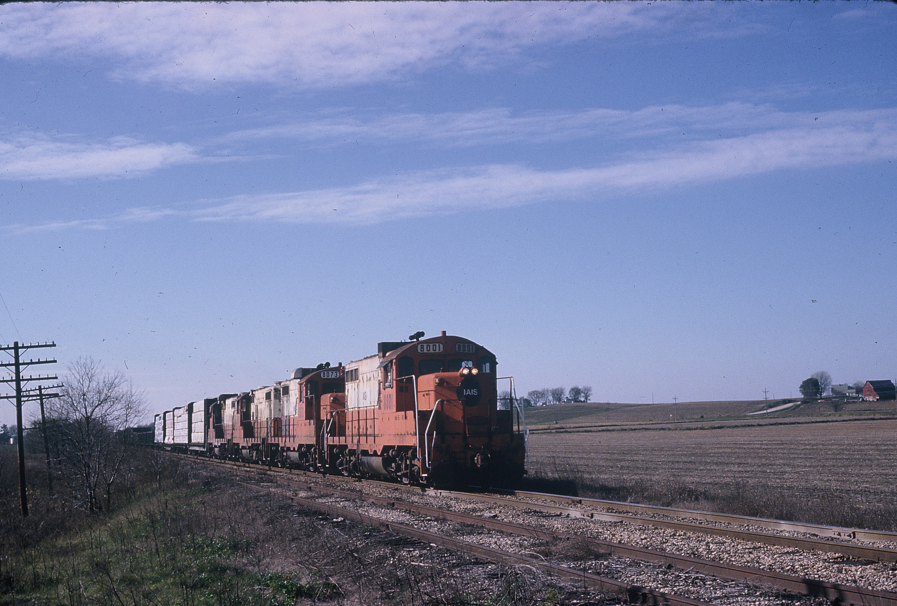 Eastbound betwee West Lib. and Atalissa, 11-3-85.