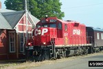 The CP Rail Geometry Train heads east back to Bureau as it works Sub 2.  Chillicothe, IL.  3-Jun-2005.