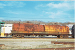 IAIS 12000 on the BNSF in Council Bluffs, IA, during April 1998