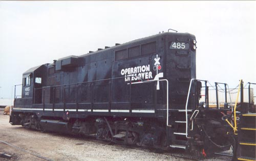 IAIS 485 at Council Bluffs, IA on 19-Aug-2000