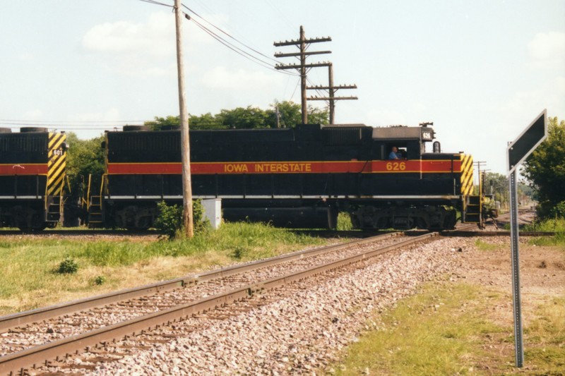 IAIS 626 at Short Line Junction, IA on 07-Aug-1997