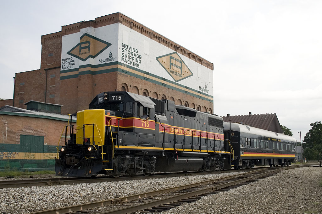 PBICB-21 heads west at Missouri Division Junction in Davenport.  21-Aug-2007.