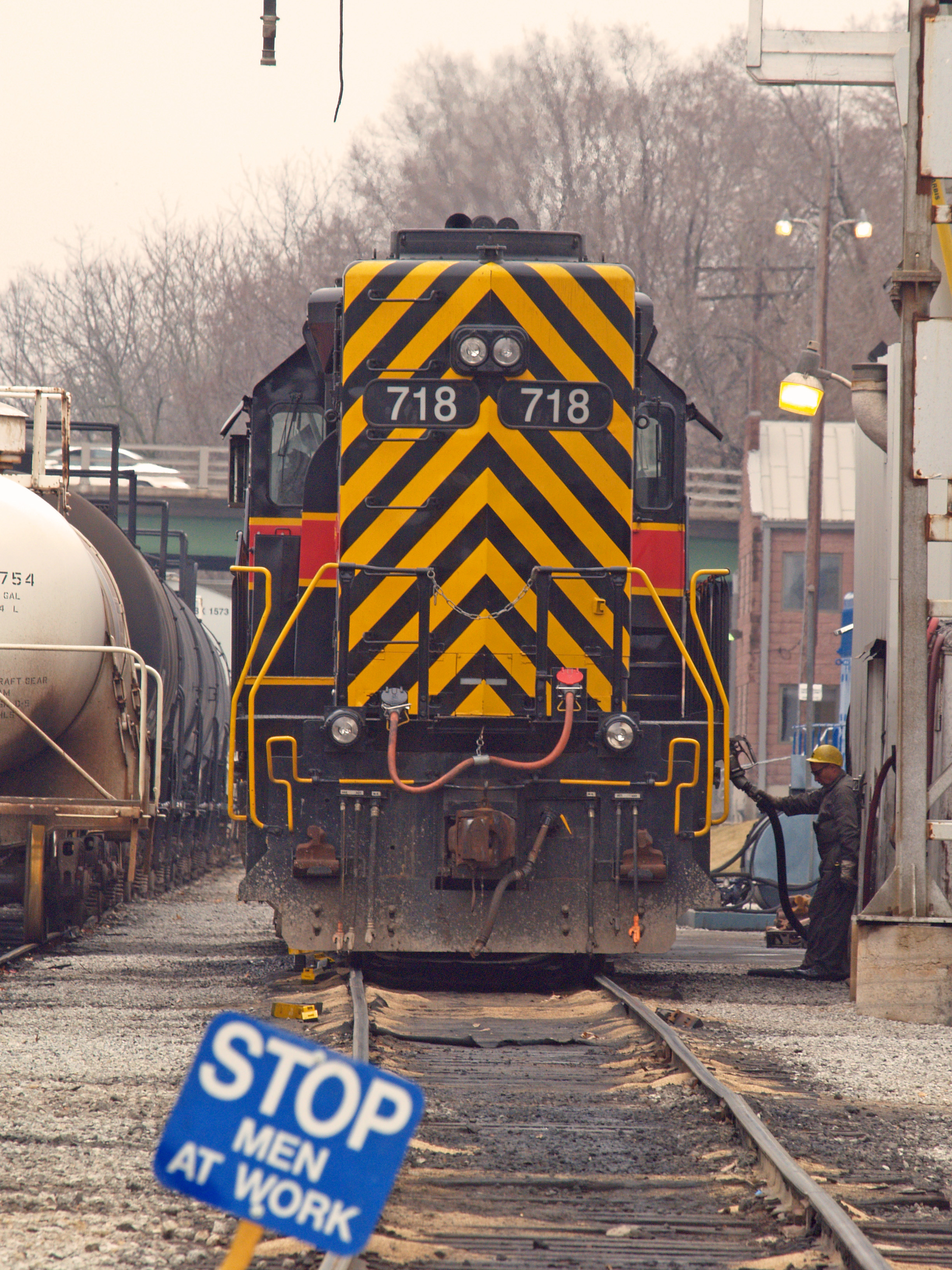 IAIS 718 Being Serviced at Iowa City, March 23, 2007