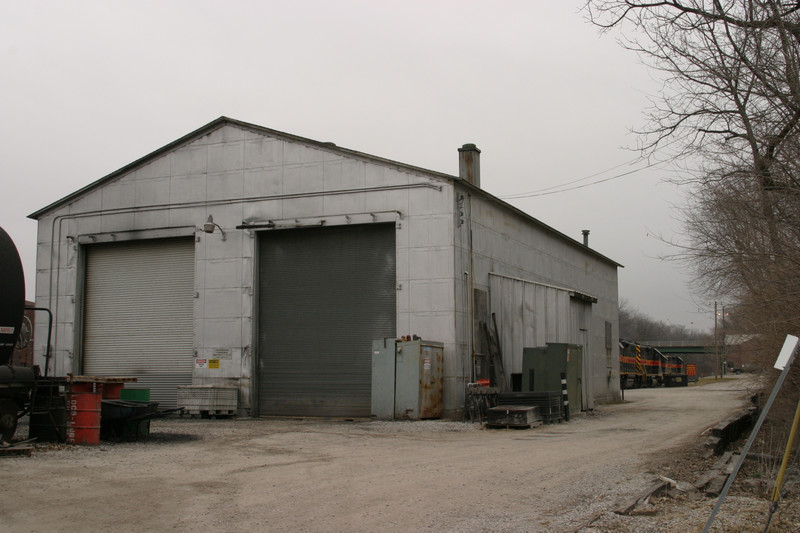 The west side of the IAIS enginehouse, taken Dec 2004.