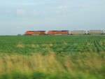 Cruising through the fields at mp218, east of West Lib.