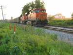 Stopped on the main at the east end of N. Star, waiting to meet the turn.