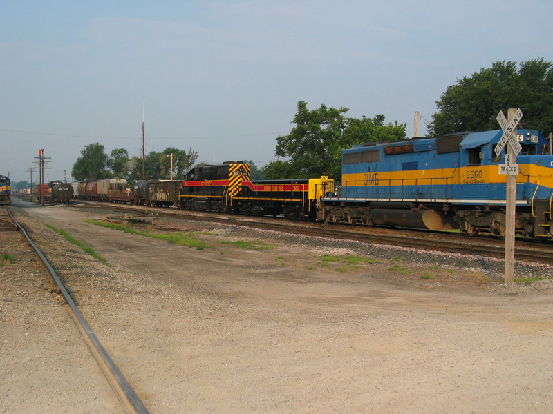 IAIS 601/slug set on ICE's KCSP train at Muscatine, June 16, 2007.