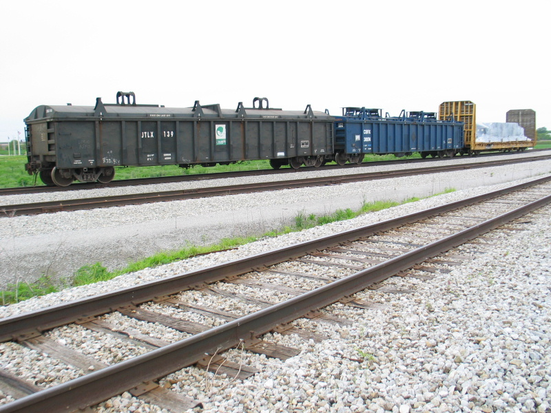 Interesting lineup on Norfolk Iron and Metal's runaround track at Durant.