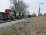 The east train is cleared up at the east end of N. Star siding to meet the turn, March 31, 2007.