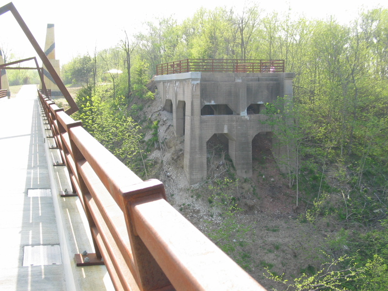 The west abutment of the old bridge.