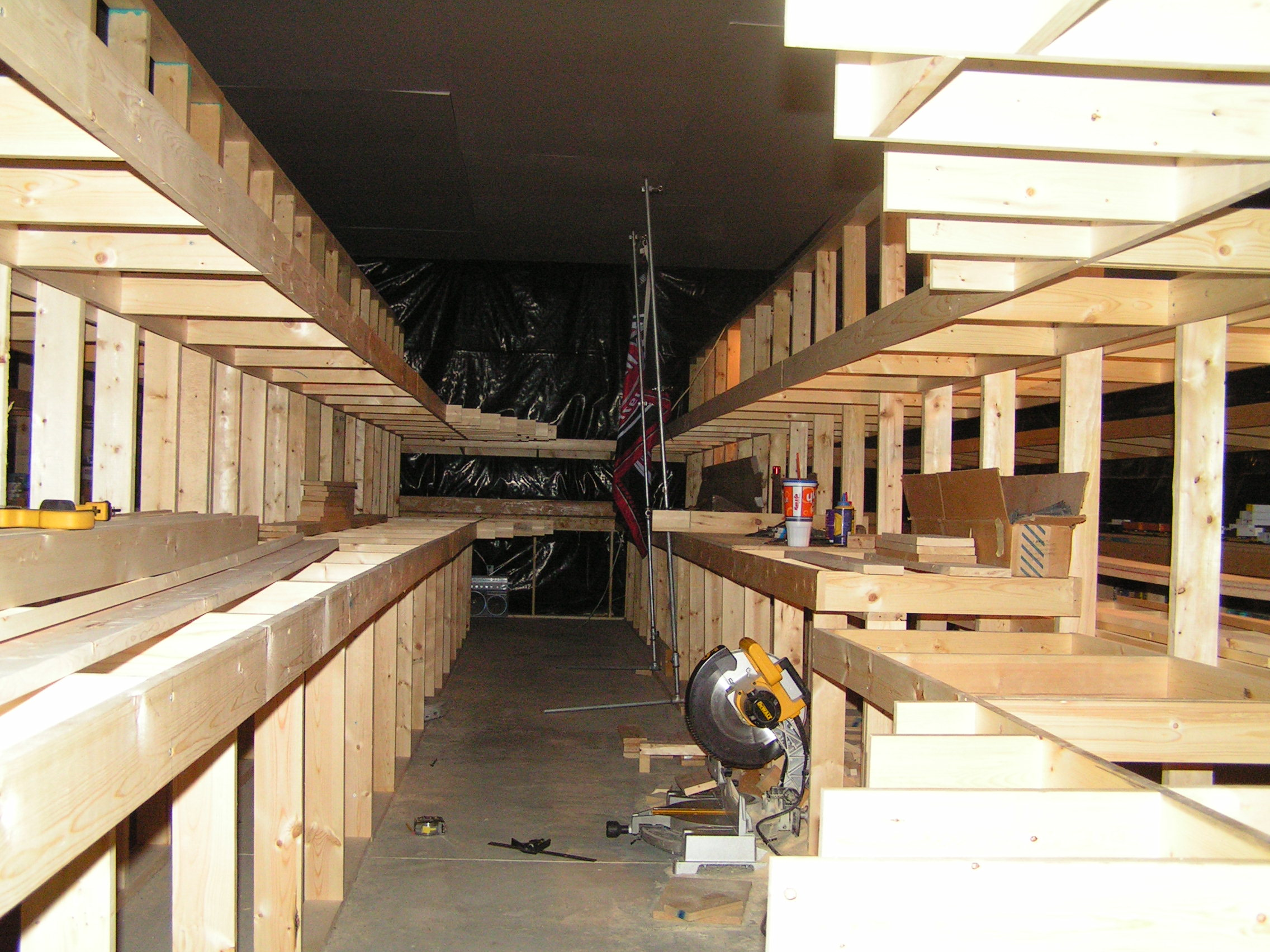 Snap shot of the benchwork under construction.