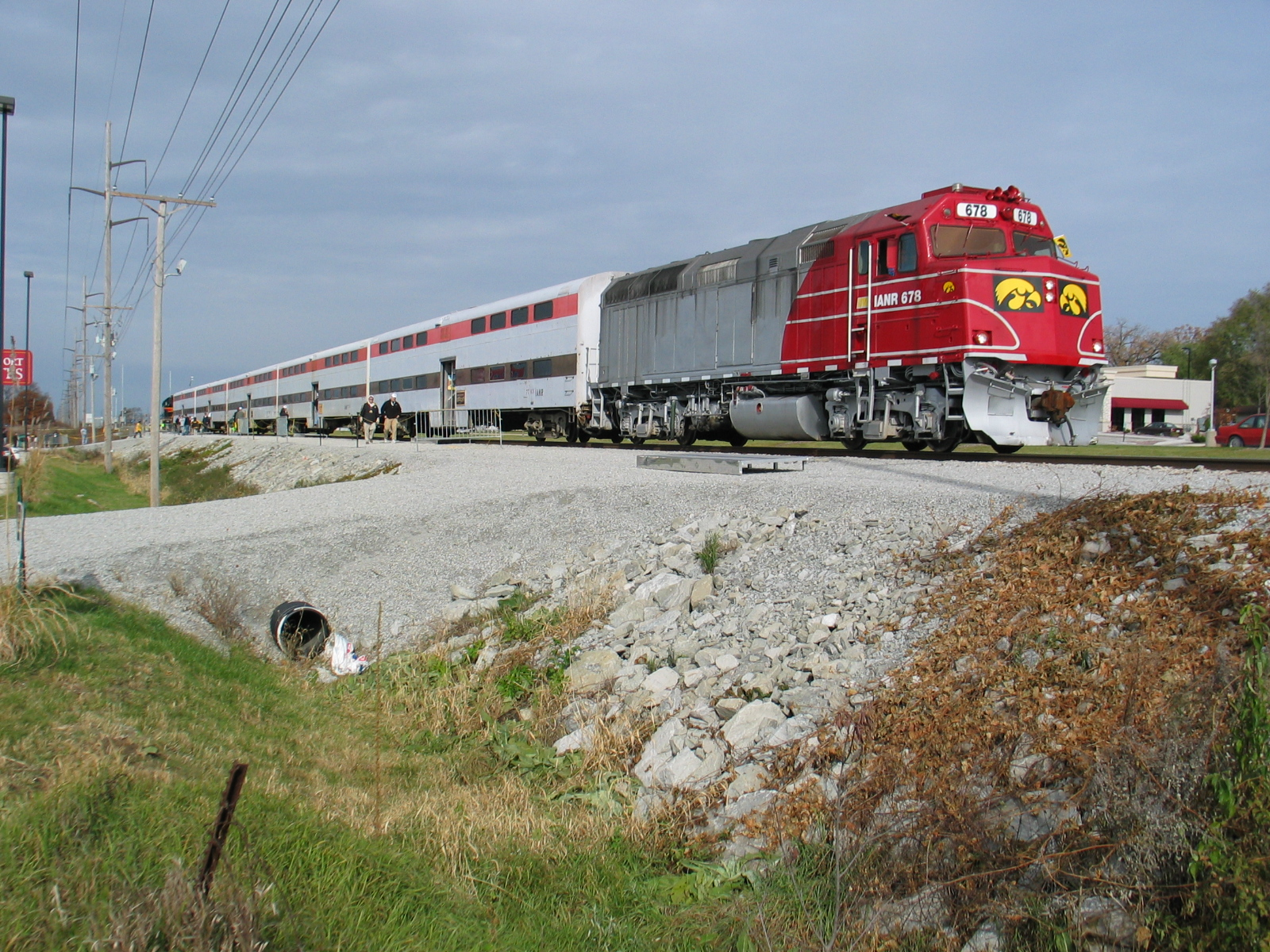 East end of the football train, Coralville, Oct. 28, 2006.