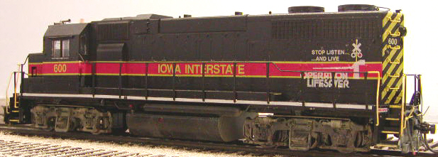 Conductor's side view showing Operation Lifesaver decals from Oddballs Decals IAIS Diesel set.