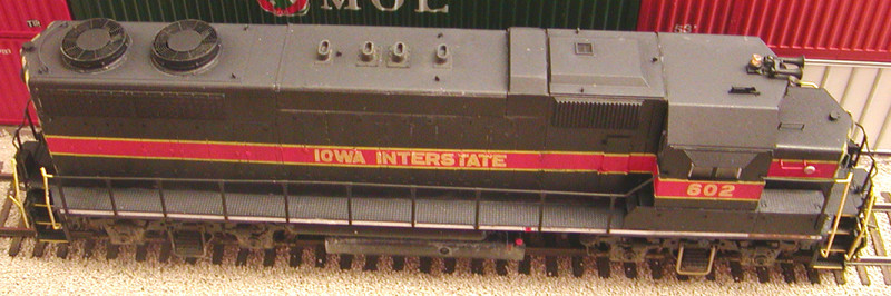 Roof shot of 602 showing new exhaust stacks, air filter box, fans, and cab roof detail.