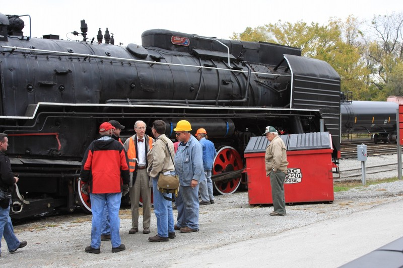 RRDC Chairman Henry Posner III (in the safety vest and his trademark bowtie) with his steam engines