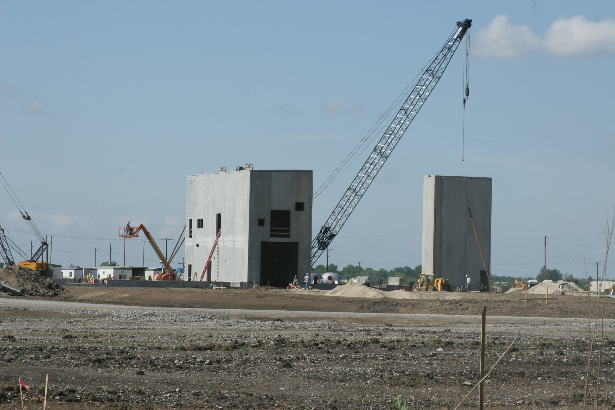 A look at the ethanol plant under construction on the northwest corner of the Newton yard