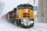 The east train at Walcott, IA, on Tuesday, 23-Dec-2008