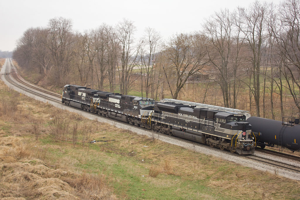 NS 1066 (New York Central)  SISW crew pulling PESI power into Silvis Yard.  April 7, 2015